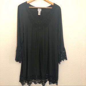 Chico's Black lace Tunic XL